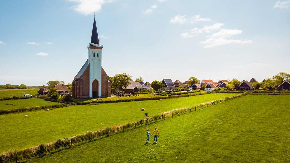 White Church in Texel, The Netherlands
