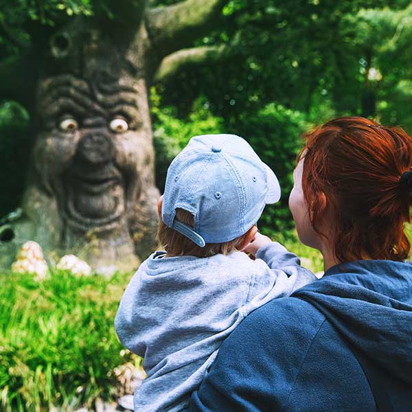 Mother and son at Efteling Theme Park