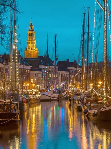 Groningen in the winter