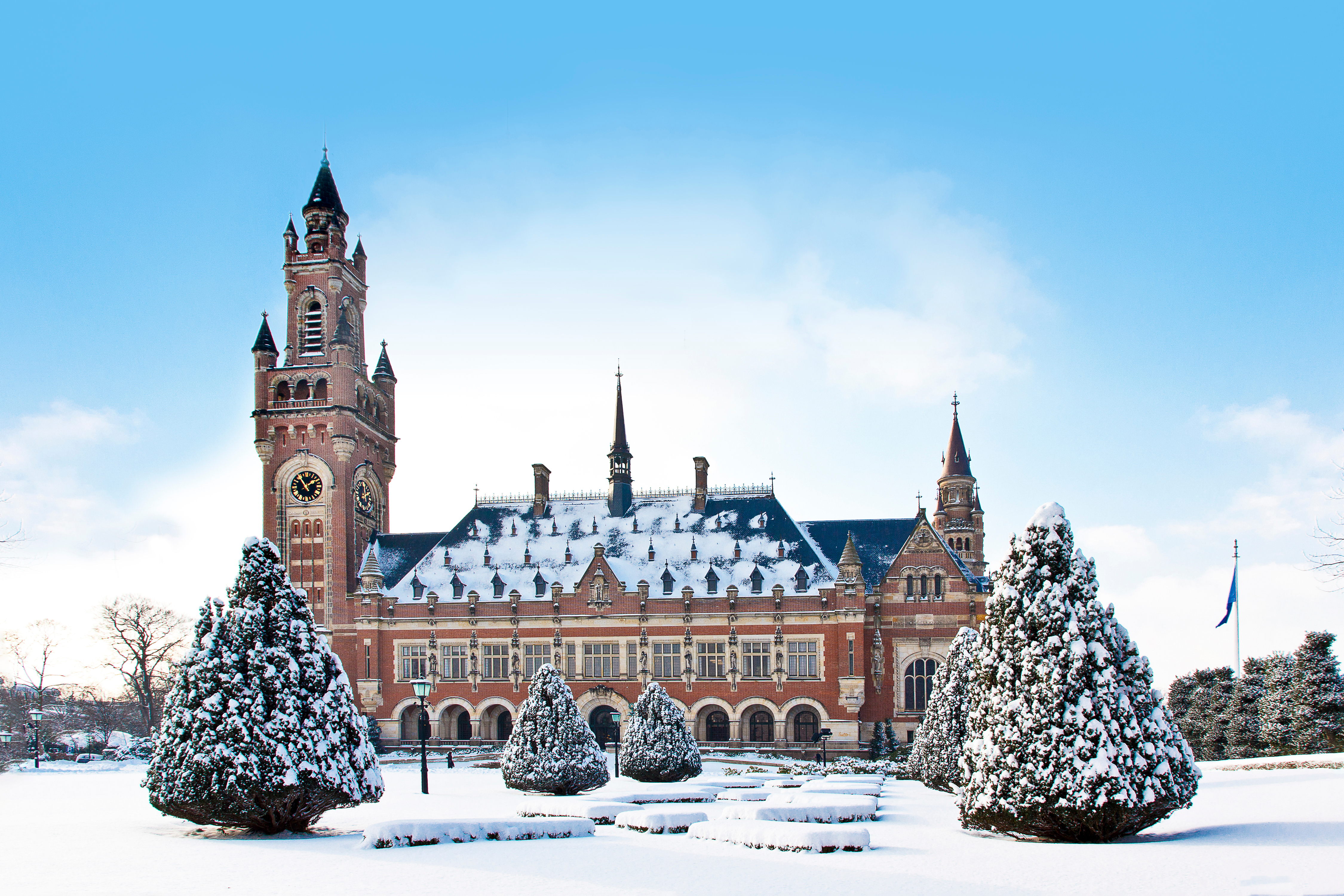 The Hague Palace during winter