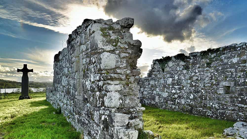 Ruined church in County Fermanagh