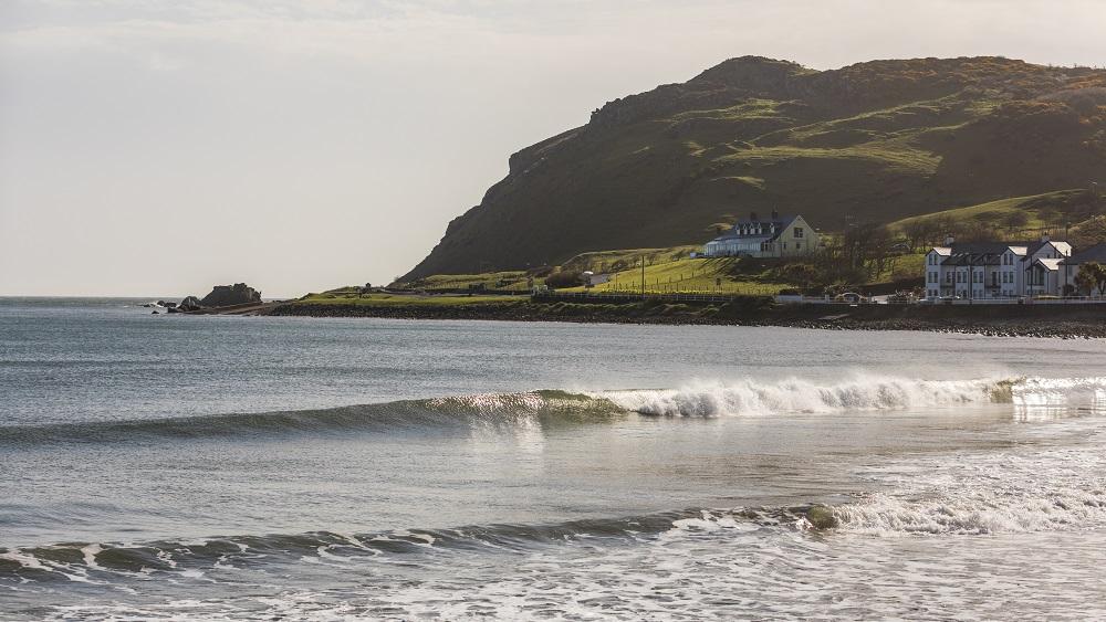 Ballygally Beach in Northern Ireland