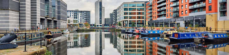 Clarence Docks in Leeds bei Minikreuzfahrt mit P&O Ferries.