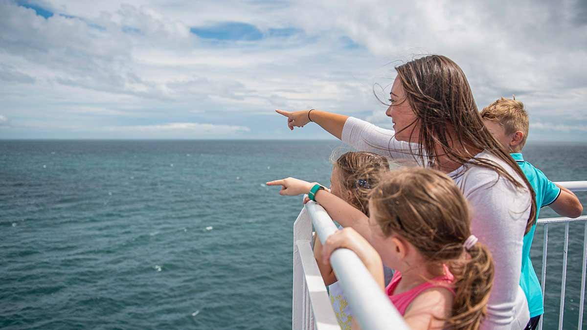 Season Tickets P&O Ferries, family on deck