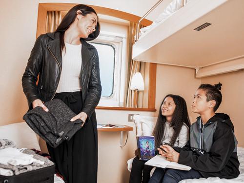 Les cabines standard des ferries P&O sont idéales pour les familles