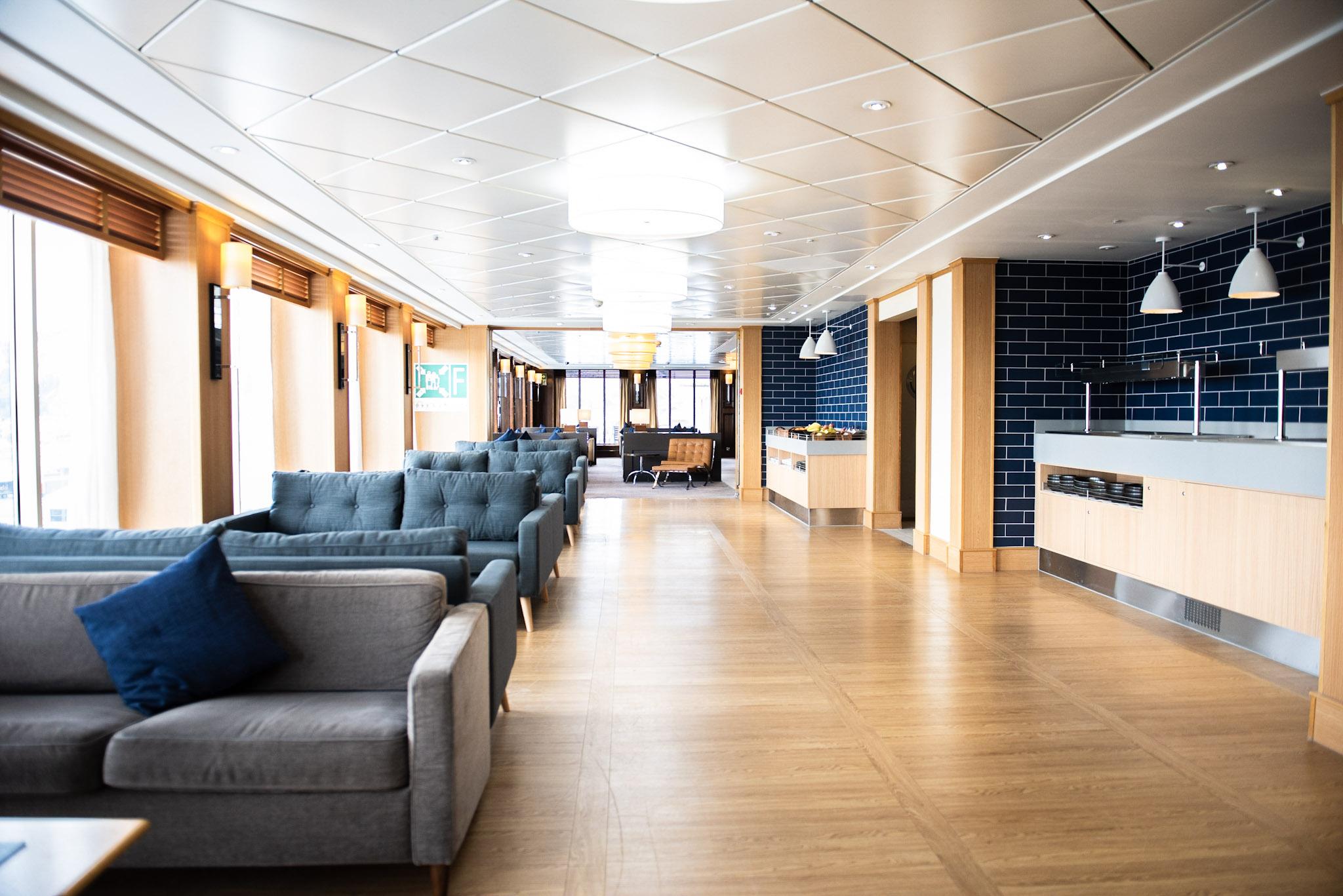 Dover to Calais P&O Ferries Club Lounge