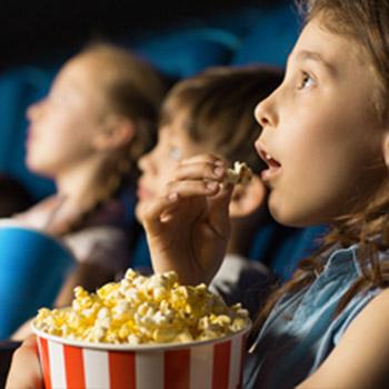 Kinder im Kino bei P&O Ferries