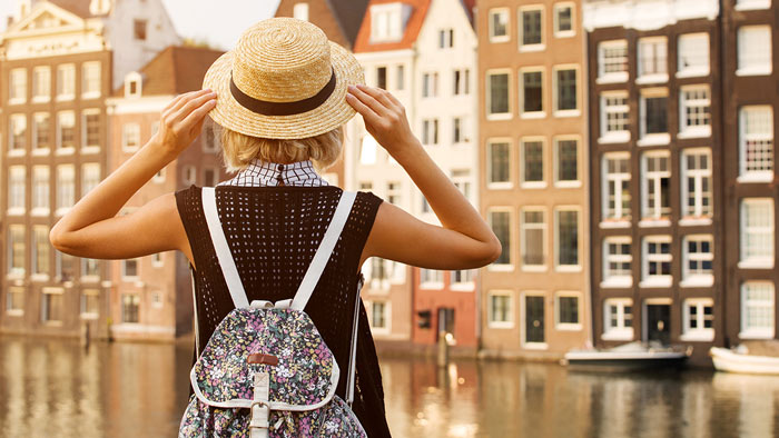 Lady Exploring City