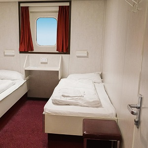 Cabin on a ferry to Ireland.