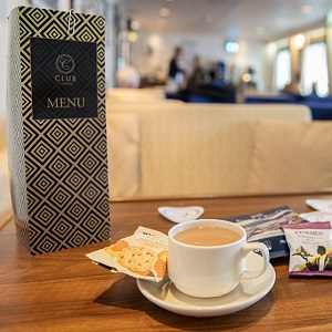 Club Lounge on a ferry to Northern Ireland