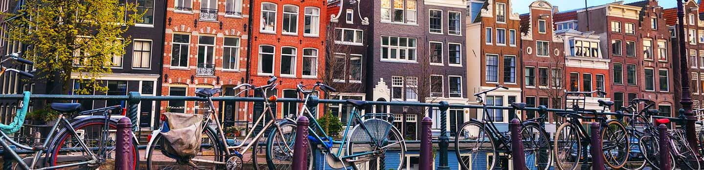 Amsterdam bikes canals