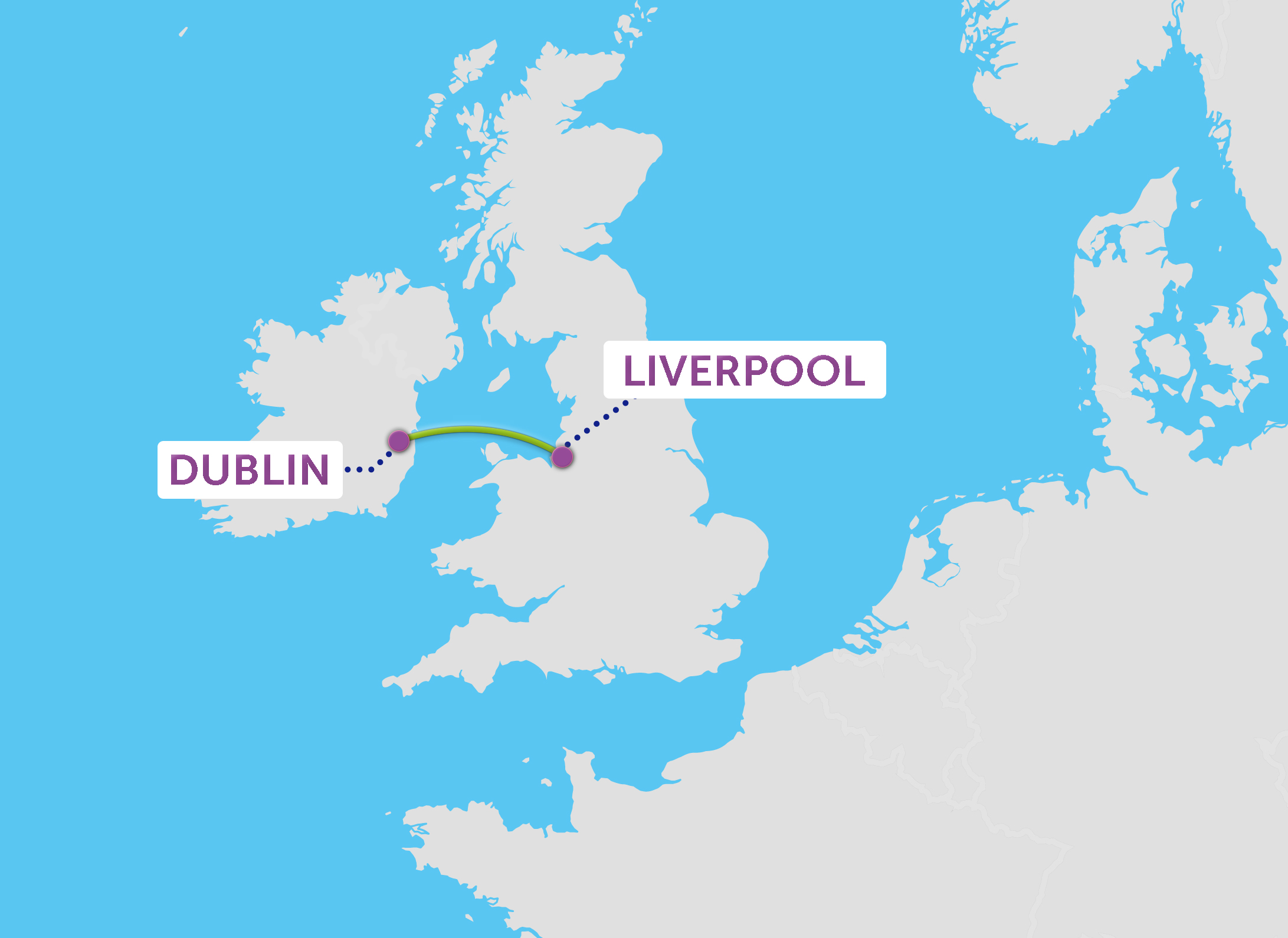 P&O Ferries Liverpool to Dublin route